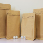 craft paper coffee bag with coffee valve2
